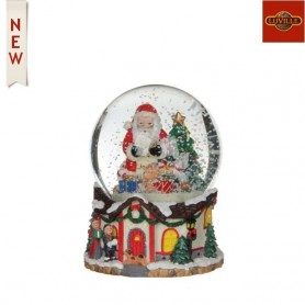 LUVILLE WATERGLOBE SANTA WITH GIFTS