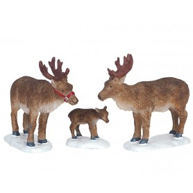 LEMAX REINDEER, SET OF 3