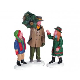LEMAX CAPTURING THE CHRISTMAS TREE, SET OF 2