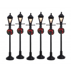 LEMAX GAS LANTERN STREET LAMP, SET OF 6 64499