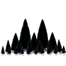 LEMAX 21 PC ASSORTED FIR TREES