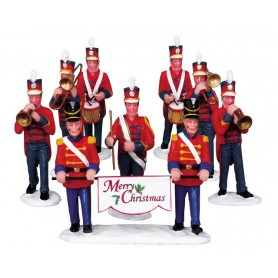 LEMAX CHRISTMAS PARADE MARCHING BAND, SET OF 8