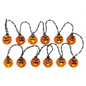 LEMAX 12 LIGHTED PUMPKIN GARLAND STRING