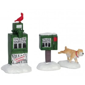 LEMAX NEWSPAPER BOX, SET OF 3
