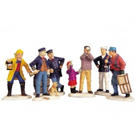 LEMAX NAUTICAL FIGURINES, SET OF 6