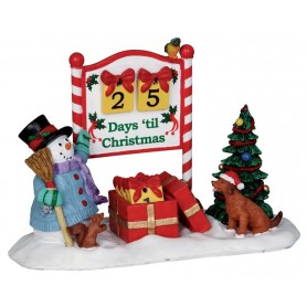 LEMAX COUNTDOWN TO CHRISTMAS, SET OF 7