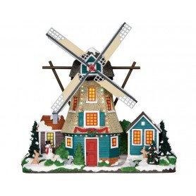 LEMAX WINDMILL, SET OF 2