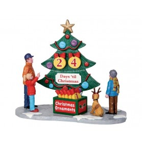 LEMAX COUNTDOWN TREE, SET OF 7