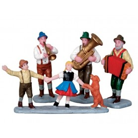 LEMAX ALPINE MUSICIANS, SET OF 4