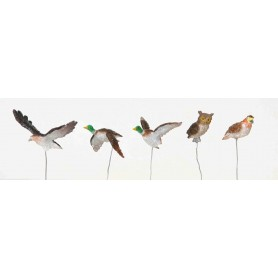 LEMAX ASSORTED BIRDS, SET OF 5