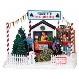 LEMAX FROSTY'S CHRISTMAS TREE LOT