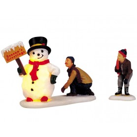 LEMAX FROSTY'S FRIENDLY GREETING, SET OF 2