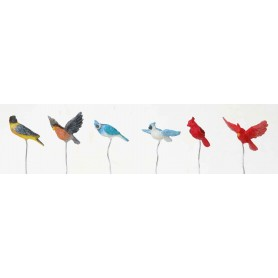 LEMAX ASSORTED BIRDS, SET OF 6