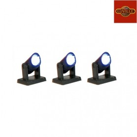 LUVILLE BLUE SPOTLIGHTS SET OF 3
