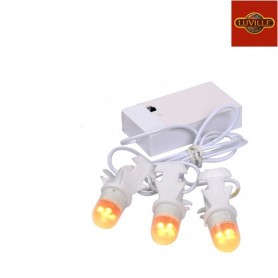 LUVILLE CHAIN OF 3 LIGHT BULBS