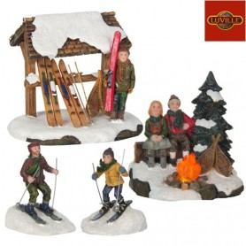 LUVILLE CAMPFIRE SKIING SET OF 4