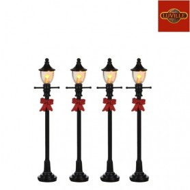 LUVILLE GAS STREET LANTERN SET OF 4