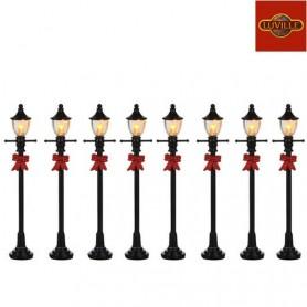 LUVILLE GAS STREETLANTERN SET OF 8
