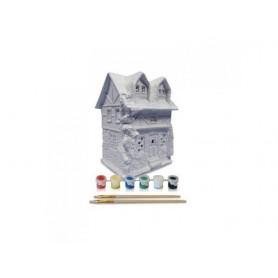 MYVILLAGE DIPINGI LA TUA CASA MINIATURA - JOHN'S HOUSE 12x10x15CM