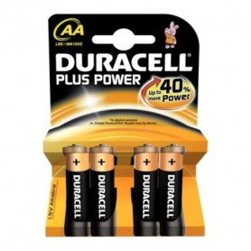 PILE DURACELL MN1500 LR6 1.5V ALKALINE AA 4 STILO PLUS POWER