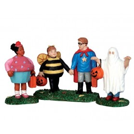 LEMAX NEW TRICK OR TREATERS, SET OF 3