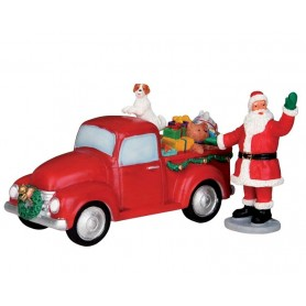 LEMAX SANTA'S TRUCK, SET OF 2