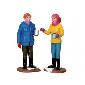 LEMAX CHIT-CHAT TIME, SET OF 2
