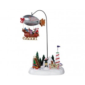 LEMAX KRINGLE'S AIR FIELD, SET OF 3