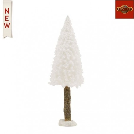 LUVILLE BRISTLE TREE ON LOG WHITE H15XD4