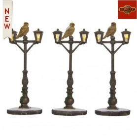 LUVILLE LANTERN WOODEN BROWN SET OF 3