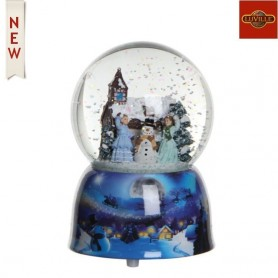 LUVILLE WATERGLOBE SNOWMAN WITH MUSIC