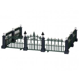LEMAX CLASSIC VICTORIAN FENCE, SET OF 7