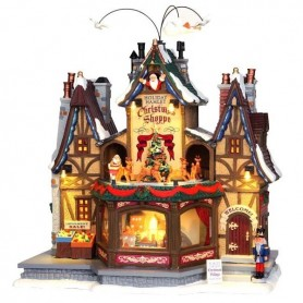 LEMAX HOLIDAY HAMLET CHRISTMAS SHOPPE 55026