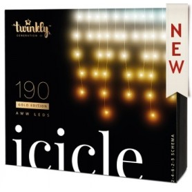 TWINKLY ICICLE 190 LUCI LED BLUETHOOT+WI-FI GENERATION II AWW