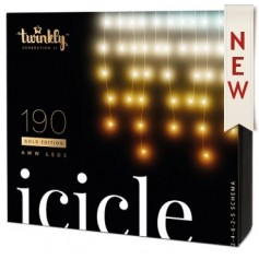 TWINKLY ICICLE 190 LUCI LED BLUETHOOT+WI-FI GENERATION II AWW PLUG UE