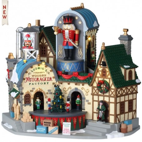 LEMAX LUDWIG'S WOODEN NUTCRACKER FACTORY 95463
