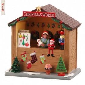 LEMAX CHRISTMAS WORLD BOOTH, B/O (3V) 04734