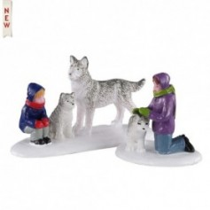 LEMAX FUTURE SLED DOGS, SET OF 2 02941