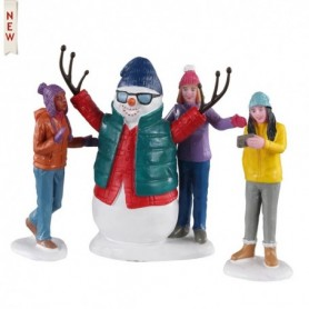 LEMAX SNOWMAN SELFIE, SET OF 4 02940