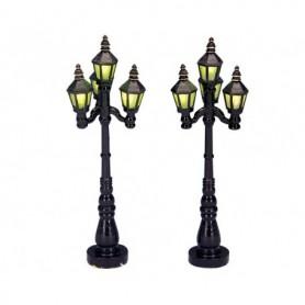LEMAX OLD ENGLISH STREET LAMP, SET OF 2 34902
