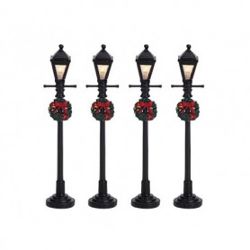 LEMAX GAS LANTERN STREET LAMP, SET OF 4 64498