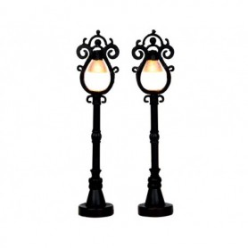 LEMAX PARISIAN STREET LAMP, SET OF 2 44757