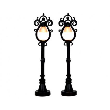 LEMAX PARISIAN STREET LAMP, SET OF 2 44757