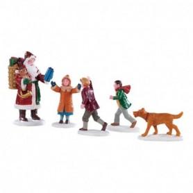 LEMAX PAPA CHRISTMAS!, SET OF 5 92745