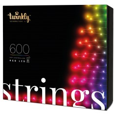 App-controlled Christmas Light String with 600 RGB multicolor LEDs