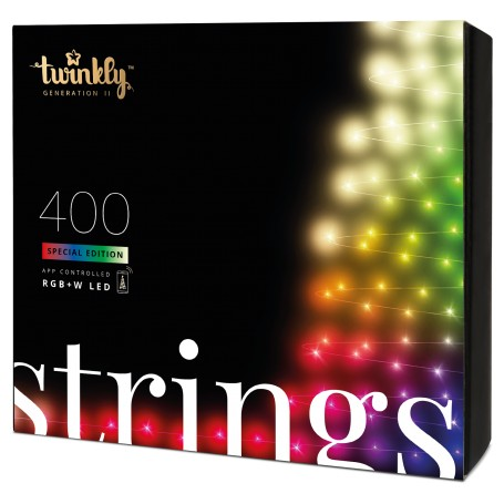 App-controlled Christmas Light String with 250 RGB+W LED (Red, Green, Blue + Warm White)