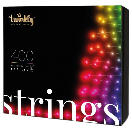App-controlled Christmas Light String with 400 RGB multicolor LEDs