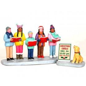 LEMAX CHRISTMAS CAROLERS, SET OF 2