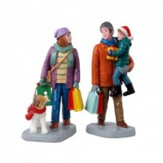 LEMAX HOLIDAY SHOPPERS, SET OF 2 12016