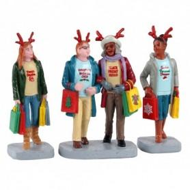 LEMAX GIRLS CHRISTMAS SHOPPING TRIP, SET OF 3 12026